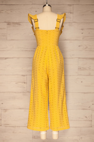 Fagervik Yellow Wide Leg Jumpsuit | La petite garçonne back view