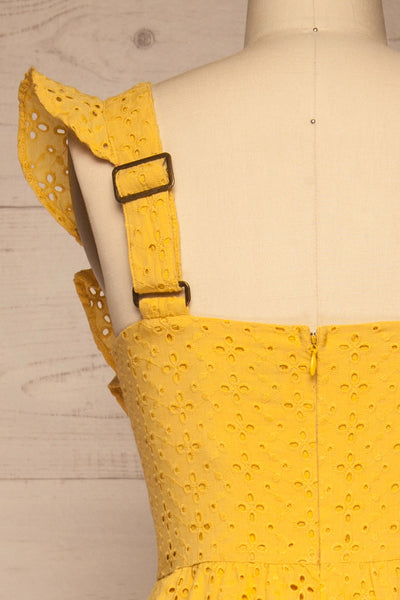 Fagervik Yellow Wide Leg Jumpsuit | La petite garçonne back close-up
