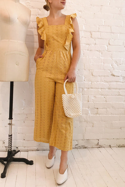 Fagervik Yellow Wide Leg Jumpsuit | La petite garçonne model look