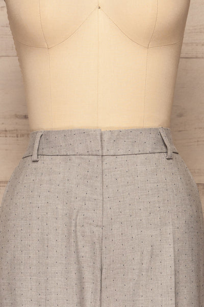 Faksvaag Light Grey Tailored Dress Pants front close up | La petite garçonne