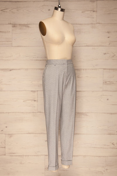 Faksvaag Light Grey Tailored Dress Pants side view | La petite garçonne