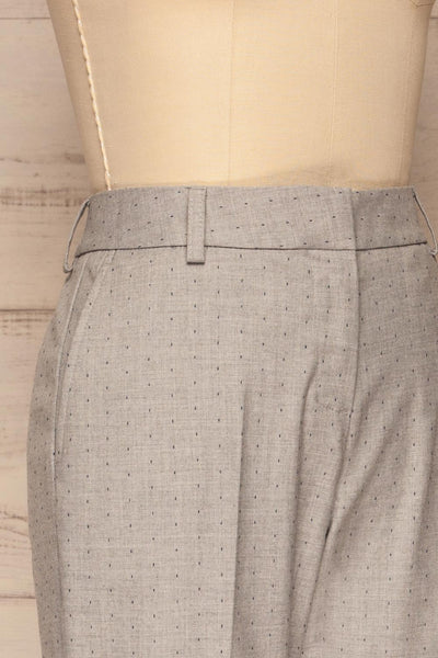 Faksvaag Light Grey Tailored Dress Pants side close up | La petite garçonne