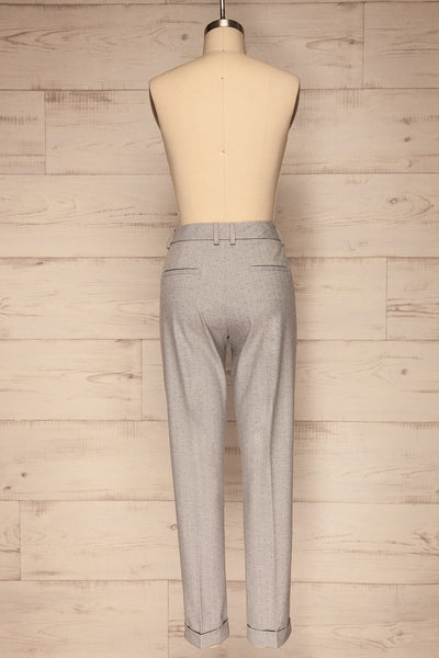 Faksvaag Light Grey Tailored Dress Pants back view | La petite garçonne