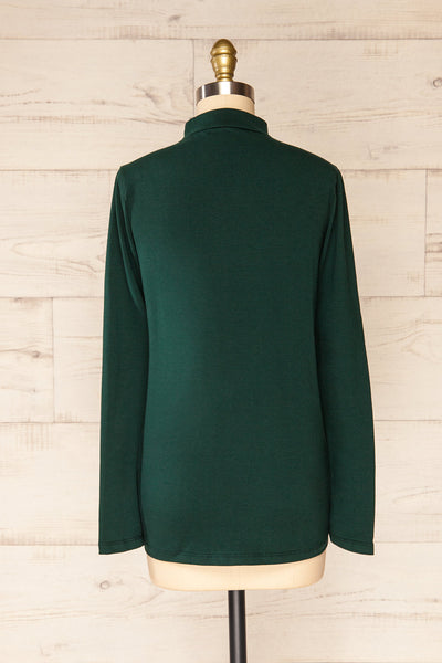 Falejde Green Long Sleeve Mock Neck Top | La petite garçonne back view