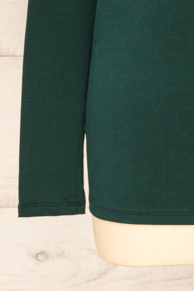 Falejde Green Long Sleeve Mock Neck Top | La petite garçonne bottom