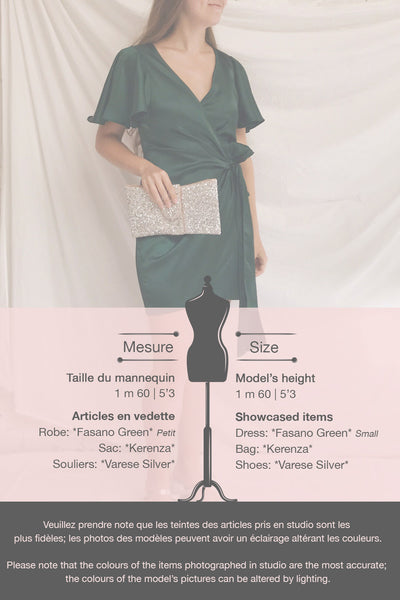 Fasano Green Short Silky Wrap Dress | La petite garçonne template 2