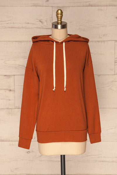 Fasseland Clay Burnt Orange Long Sleeved Top | La Petite Garçonne front view