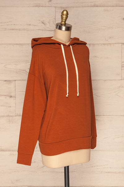 Fasseland Clay Burnt Orange Long Sleeved Top | La Petite Garçonne side view