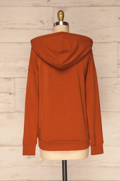 Fasseland Clay Burnt Orange Long Sleeved Top | La Petite Garçonne back view