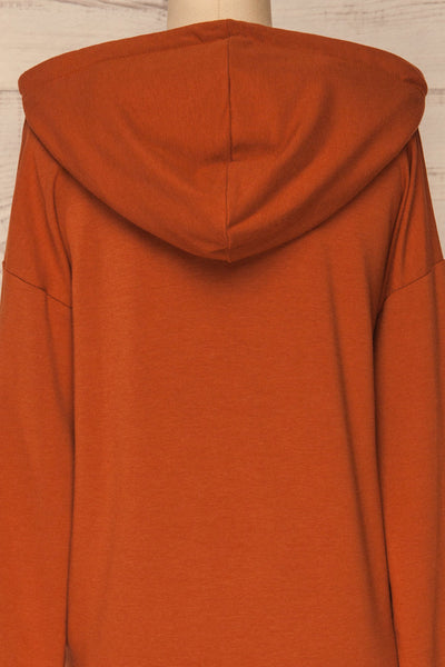 Fasseland Clay Burnt Orange Long Sleeved Top | La Petite Garçonne back close-up