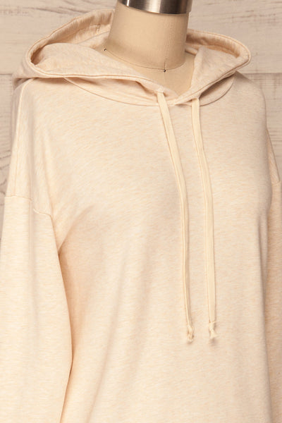 Fasseland Sand Beige Long Sleeved Top | La Petite Garçonne side close-up