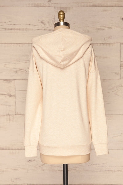 Fasseland Sand Beige Long Sleeved Top | La Petite Garçonne back view
