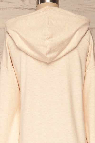 Fasseland Sand Beige Long Sleeved Top | La Petite Garçonne back close-up