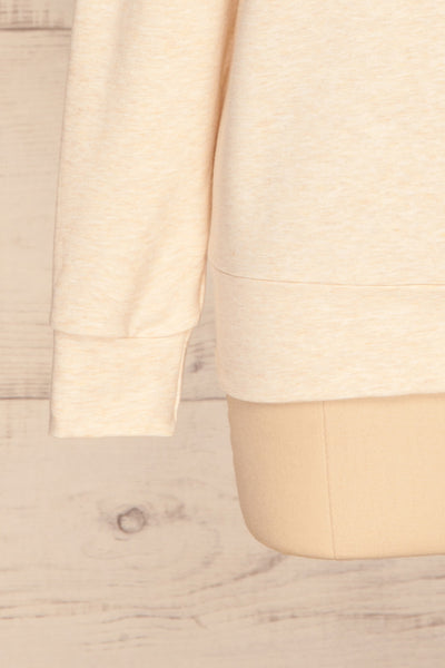 Fasseland Sand Beige Long Sleeved Top | La Petite Garçonne bottom close-up