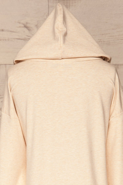 Fasseland Sand Beige Long Sleeved Top | La Petite Garçonne back close-up hood