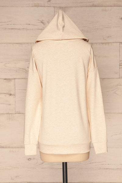 Fasseland Sand Beige Long Sleeved Top | La Petite Garçonne back view hood