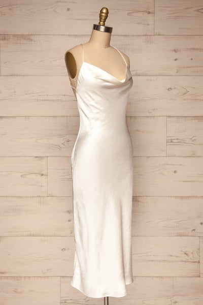 Fawn White Silky Dress | Robe Blanche | La Petite Garçonne side view