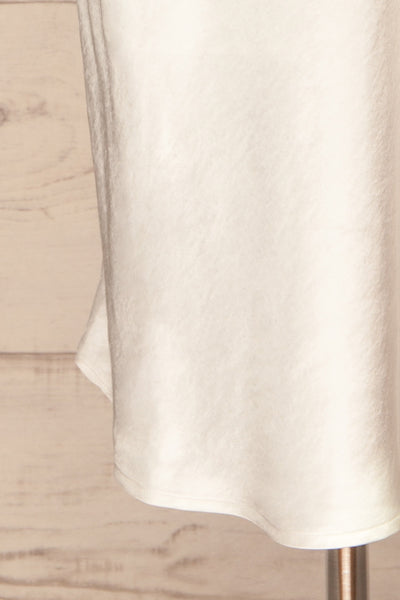 Fawn White Silky Dress | Robe Blanche | La Petite Garçonne bottom close-up