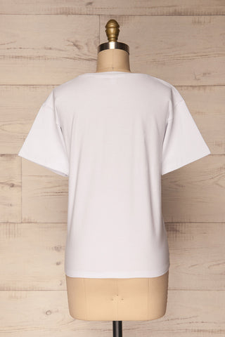 Feelings White Short Sleeved T-Shirt | La Petite Garçonne 6