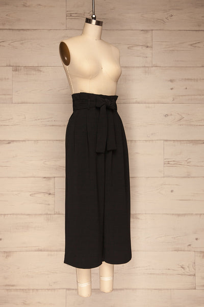 Ferentino Black Wide Leg Pants | Pantalon | La Petite Garçonne side view