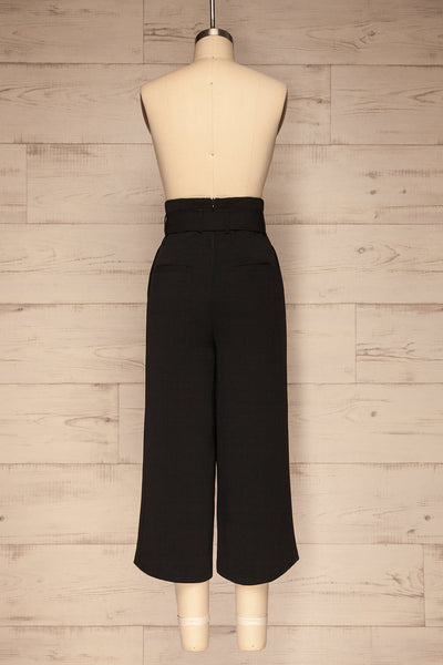 Ferentino Black Wide Leg Pants | Pantalon | La Petite Garçonne back view