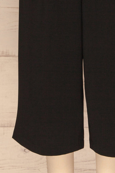 Ferentino Black Wide Leg Pants | Pantalon | La Petite Garçonne bottom close-up
