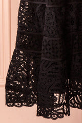 Feryel Black Lace A-Line Summer Dress | Boutique 1861