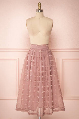 Flavie Rose Pink A-Line Skirt | Jupe Ligne A | Boutique 1861 front view