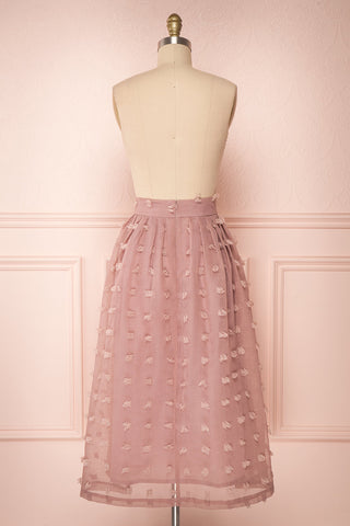 Flavie Rose Pink A-Line Skirt | Jupe Ligne A | Boutique 1861 back view