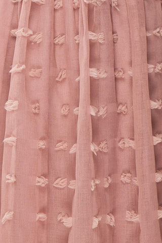 Flavie Rose Pink A-Line Skirt | Jupe Ligne A | Boutique 1861 fabric detail
