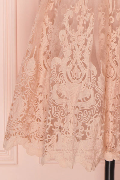 Fodla Blush | Robe de Dentelle Rose