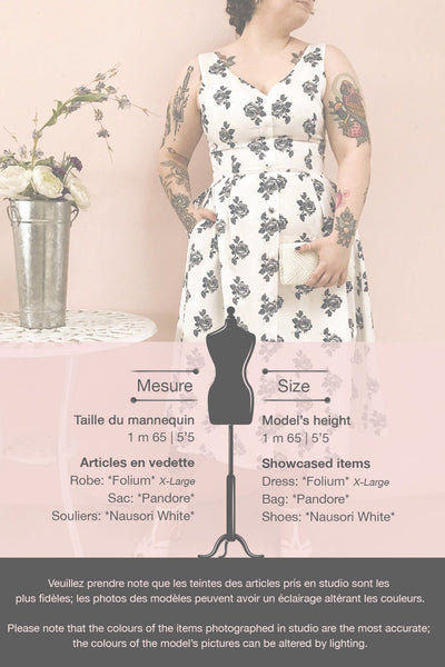 Folium White Floral Midi Summer Dress | Boutique 1861 template