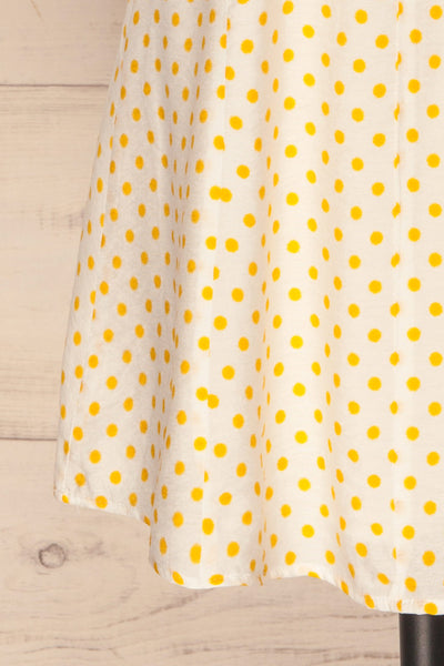 Frampol White Short Dress w/ Polka Dots | La petite garçonne bottom