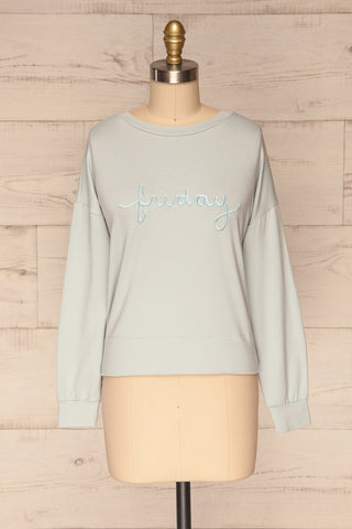 Friday Light Blue Long Sleeved Top | La Petite Garçonne 1