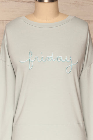 Friday Light Blue Long Sleeved Top | La Petite Garçonne 2