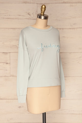 Friday Light Blue Long Sleeved Top | La Petite Garçonne 3