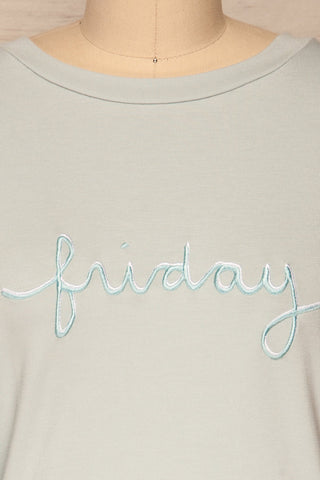 Friday Light Blue Long Sleeved Top | La Petite Garçonne 8