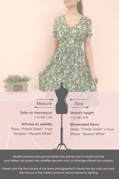 Frieda Green Floral Short Sleeve Midi Dress | Boutique 1861 template