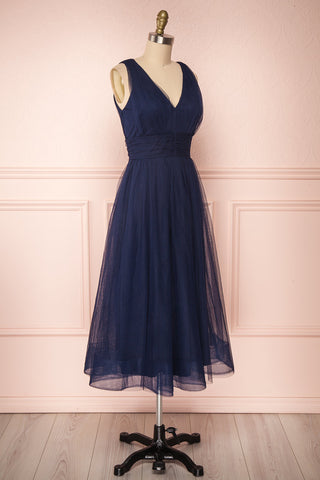 Galynne Marine Party Dress | Robe en Tulle side view | Boutique 1861
