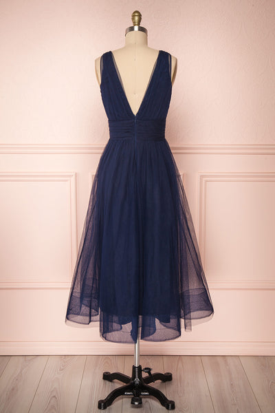 Galynne Marine Party Dress | Robe en Tulle back view | Boutique 1861