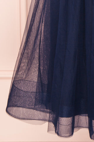 Galynne Marine Party Dress | Robe en Tulle skirt close up | Boutique 1861