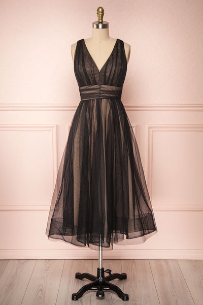Galynne Noire Party Dress | Robe en Tulle front view | Boutique 1861