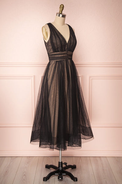 Galynne Noire Party Dress | Robe en Tulle side view | Boutique 1861