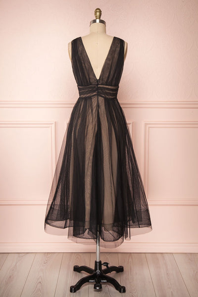 Galynne Noire Party Dress | Robe en Tulle back view | Boutique 1861