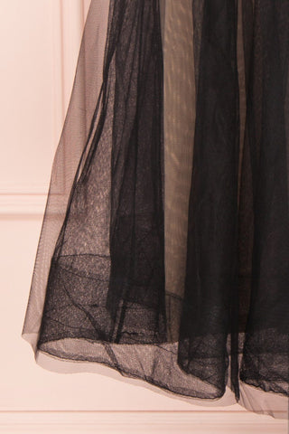 Galynne Noire Party Dress | Robe en Tulle skirt close up | Boutique 1861