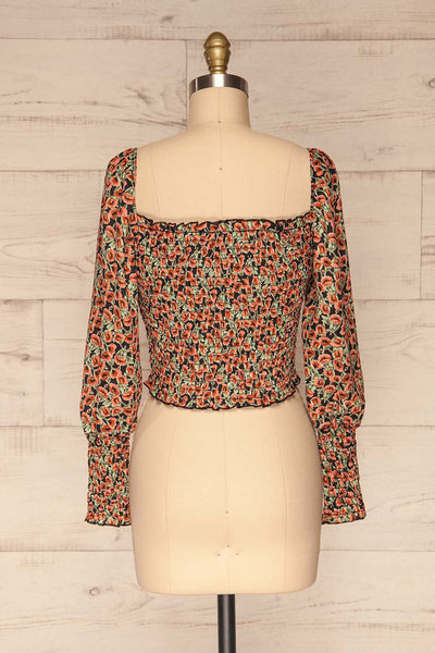 Garwolin Orange & Green Floral Crop Top | La Petite Garçonne 5