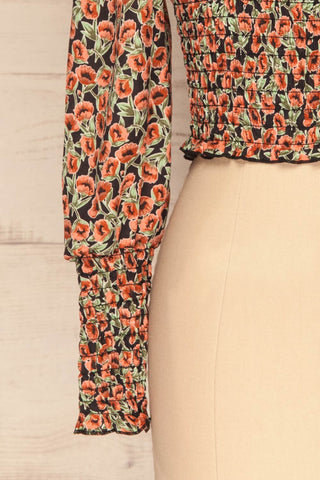 Garwolin Orange & Green Floral Crop Top | La Petite Garçonne 7