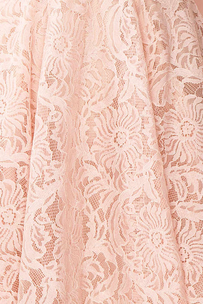Gavina Blush Lace A-Line Party Dress | Robe | Boutique 1861 fabric detail