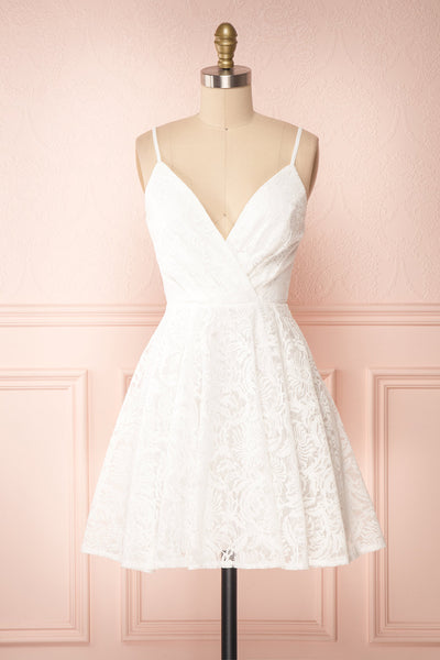 Gavina Ivory Lace A-Line Party Dress | Robe | Boutique 1861 front view