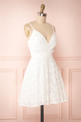 Gavina Ivory Lace A-Line Party Dress | Robe | Boutique 1861 side view